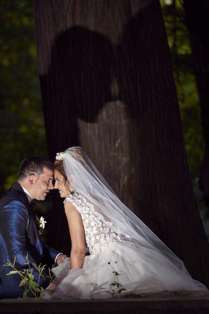 poze nunta in parc